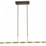 Hanglamp Vigo bronze clear glass 100cm dim to warm