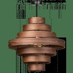 Hanglamp Walnut 50cm 7 rings
