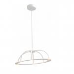 Hanglamp Dante ovaal 70cm wit LED dim to warm