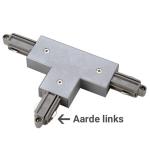 1-Fase Rail T-Connector Links grijs