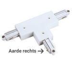 1-Fase Rail T-Connector Rechts wit